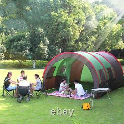 UK 10 People Large Waterproof Group Family Festival Camping Outdoor Tunnel Tent