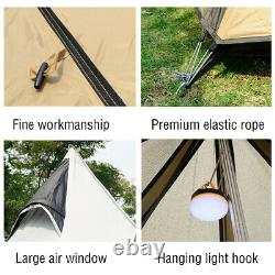 UK 4-persons Camping Waterproof Family Indian Style Pyramid Tipi UK