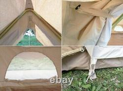 UK Shipped Large Waterproof Cotton Canvas Twin Emperor Bell Tent Glamping Tent