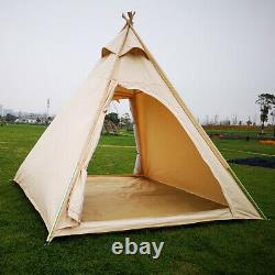 UK Shipped Three Seasons Adult Camping Indian Teepee Pyramid Tent for 23 Person