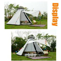 UK Waterproof Double-Layer Yurt Family Indian Style Teepee Camping Tent Outdoor