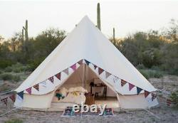 US Canvas Bell Tent 6M Glamping Camping Bell Tent Waterproof Yurts Large Outdoor