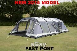 Up 1x New 2018 Kampa Croyde 6 Person Berth Inflatable Large Family Air Tent 2018