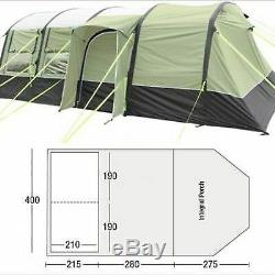 Up 1x New Sunncamp Epic 600 Air Inflatable Large 6 Man Person Bert Tunnel Tent