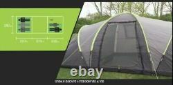 Urban Escapes 6 person 2 Rooms tunnel tent with porch
