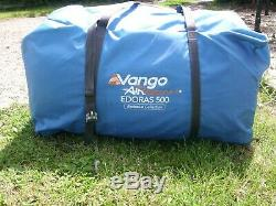 Vango Airbeam Edoras 500 Inflatable Tent Sky Blue