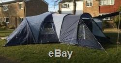 Vango Diablo 600 tent, 2 x 3 berth pods and full height large central atrium