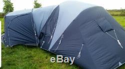 Vango Diablo 600XL 6 man Tent 2 large bedrooms living area and porch