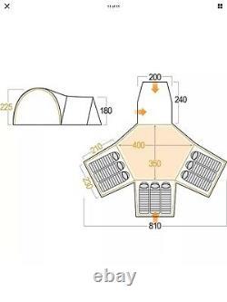 Vango Diablo 900 blue 9 berth large tent with 3 bedrooms, ground sheet
