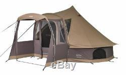 Vango Sandalwood Large Tipi Style Polycotton Glamping Tepee Tent VA01656