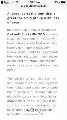 Very large Buckville 700 Family Tent 7/8 man + Buckville Carpet All like new