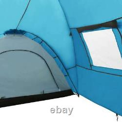 VidaXL Camping Igloo Tent 650cm 8 Person Blue Dome Cabin Hiking Tent Canopy