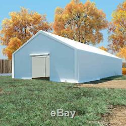 VidaXL Storage Tent PE 6x12m White Gazebo Outdoor Garden Pavilion Marquee