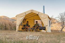Wall Tent with Stove Jack 6 Person Outdoor Large Camping Family Shelter 12'x10