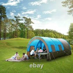 Waterproof Large Family Tent 8-10 Person Tunnel Tents Camping Column Tent GB