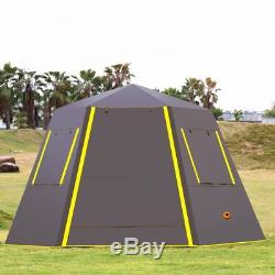 Waterproof Ultra Large Tent Family Outdoor Canopy Tarp Diagonal Camping Shelter