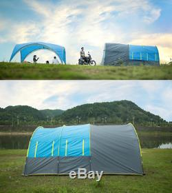 Windproof Tunnel Large Outdoor Tent Party Family Travel Hiking for 10+ person