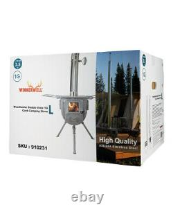 Winnerwell Woodlander Double View Wood Burning Camping Stove Size L
