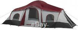 10 Personne 3 Chambre Tente De Cabine Instantanée Grand Abri De Camping En Plein Air 20 10
