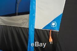 10 Personne Bleu / Blanc Autoportant Tunnel Tente Avec Multi-position Fly Randonnée Camping