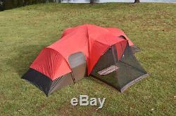 10 Personne Grande Tente Camping 3 Chambre Extérieure Étanche Famille Red Ozark Trail