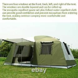 10 Personne Voyage Grande Tente 2 Chambres Capacité Camping Accueil Famille Tente De Randonnée