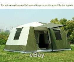 10 Personne Voyage Grande Tente 2 Chambres Capacité Camping Maison Randonnée Tente