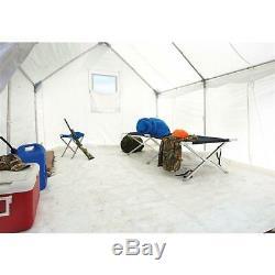 10 X 12 Canvas Wall Tente Bundle Complet Avec Plancher Et Cadre Inclus, Grand
