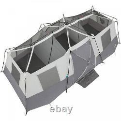 12 Personne Fold Dépliez Étendre Extra Grand Windows Divise Tente Cabine Instantanée