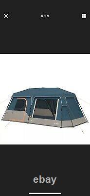 12 Personnes Instant Camping Tente Lumières Led Intégrées 10' X 18' Grande Cabine