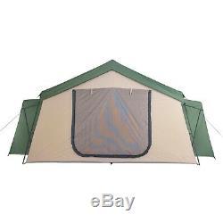14 Personne Spring Lodge Chalet Camping Tente Abri Famille D'extérieur Écran Nouveau Chambre