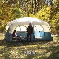 14' X 10' Étanche Famille Chalet Tente 10 Personne Extérieure Camping Camp Instantané