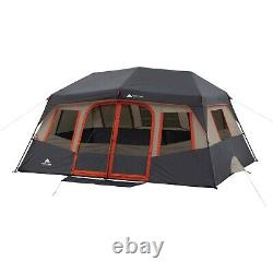 14 X 10 Orange Instant Cabin Tent 10 Personne 2 Chambres Outdoor Shelter Camping Nouveau