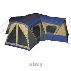 14-personne 4-chambre Base Camp Tent 4 Entrées Camping Family Cabin Big Shelter Nouveau