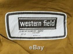 1970 Western Champ Montgomery Ward Cabine Tente 9x12 Ft. Grand Canvas / Nylon