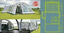 2018 Kampa Bergen 6 Berth Grand Air Pro Famille Tente Gonflable