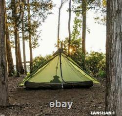 2021 Nouvelle Version 230cm 3f Ul Gear Lanshan 1 Ultralight Camping 3 Saison 15d Tente
