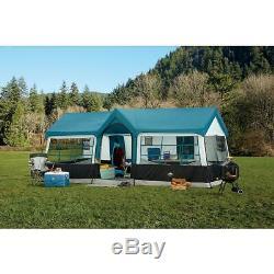 20x12 'nouveau Camping Blue Instant Family Cabin 3 Room Large Tent 12 Personnes Étanche