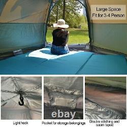 3-4 Personne Travel Tent Tactical Camping Hiking Tents Sports Grande Capacité Tente