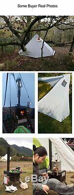 3-4 Personnes Camping Tipi Tente D'extérieur Randonnée Abri Grand Imperméable En Nylon 20d