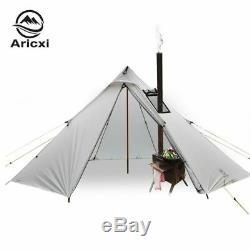 3-4 Personnes Ultraléger Extérieur Camping Tipi 20d Silnylon Pyramide Tente Grand Rod