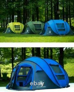 3-4person Man Family Tent 3 Second Instant Pop Up Tent Respirant Camping Randonnée