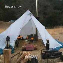 3-6 Personnes Ultraléger Extérieur Camping Tipi 20d Silnylon Pyramide Tente Grande