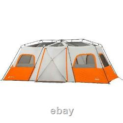 3 Chambre Camping Instant Cabin Tent Integrated Led Light 12 Personne Outdoor Shelter