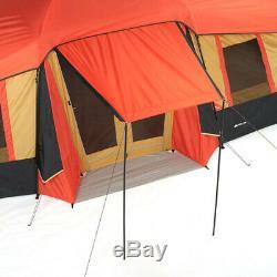 3 Chambre Grande Cabine Tente 10 Personne Camping Chasse 20'x11' Extérieur Ozark Trail