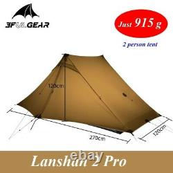 3f Lanshan 2pro Ultraléger Camping 2 Personnes Tente De Randonnée 3 Saison Tente De Plein Air