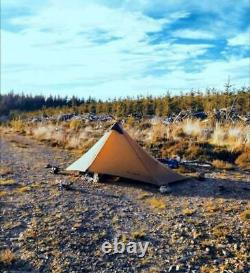 3f Lanshan Ultralight 1 Personne Wild Camping Tente 15d Léger Khaki Nouveau