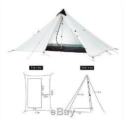 3f Ul Vitesse 1 Personne Portable Outdoor Ultraléger Anti-uv Camping Tente 3 Saison Royaume-uni