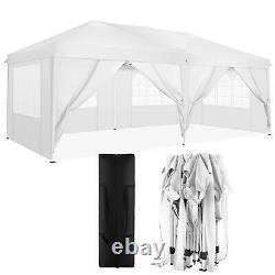 3mx6m Gazebo Pop Up Imperméable Grande Tente Fête De Mariage Camping Gazebo Blanc Hot