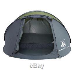 4-6 Personnes Grande Tente Double Couche Automatique Famille Pop-up Extérieur Tente Camping